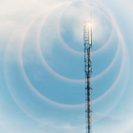 enhancing: Communication tower with ring effect enhancing transmission concept