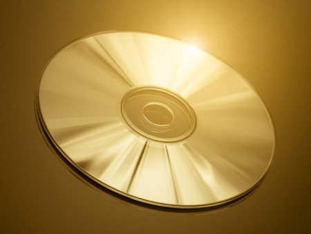 Disc on a golden  photo