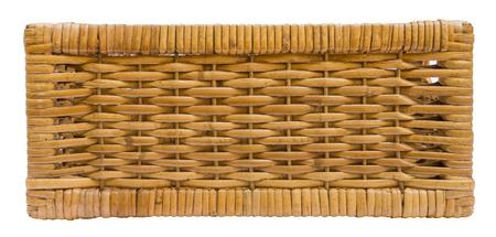 wooden basket: Wicker basket drawer side view