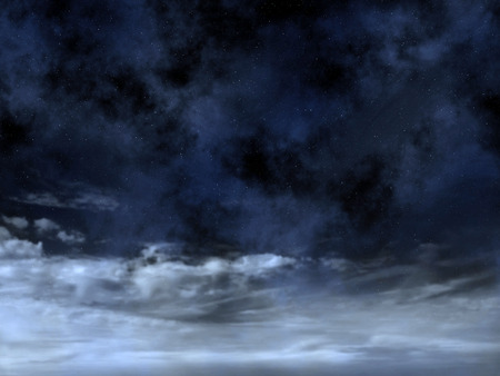 cloud background: Night sky with stars above clouds