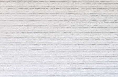 White brick wall for texture or background Banco de Imagens