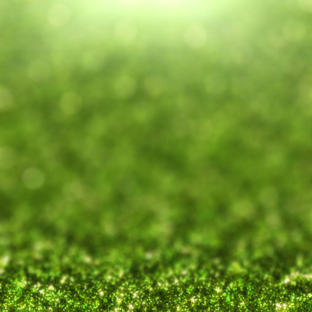 color of year: Green glitter and bokeh with light for background, greenery, color of the year 2017 Stock Photo