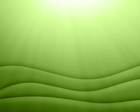 greenery: Green abstract wavy background with light, greenery, color of the year 2017 Stock Photo
