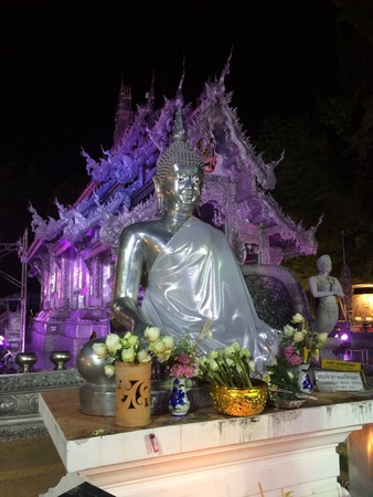 silver: Silver buddha, Silver Ubosotha, Chiang Mai, Thailand