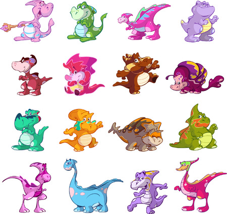 collection of cute dinos