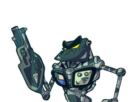 war robot Illustration