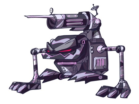canon war robot Vector