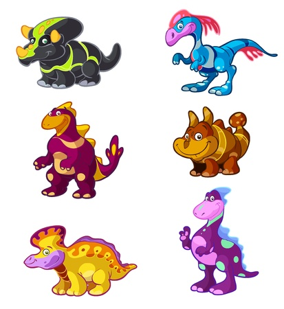 a cute dino vector set Vector