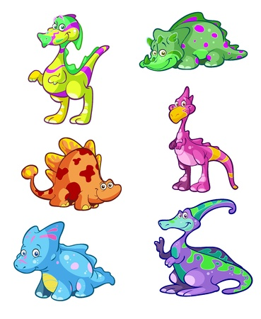 ascendant: collection of colorful dino Illustration