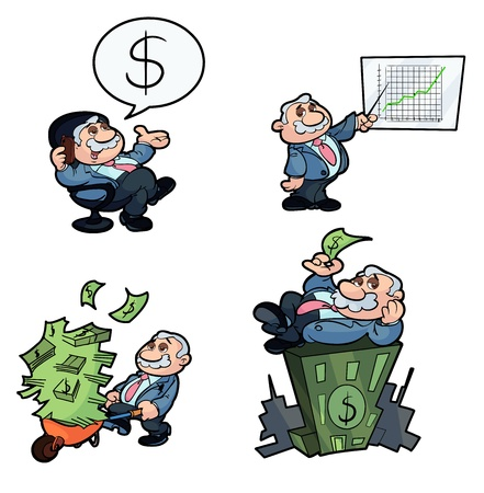 collection of money making business man