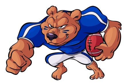 football bear in action Illustration