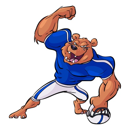 football bear victory Vector