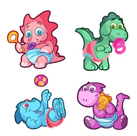 amusant: collection de dinosaures mignon b�b�