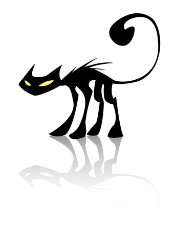 black cat Stock Vector - 12448582