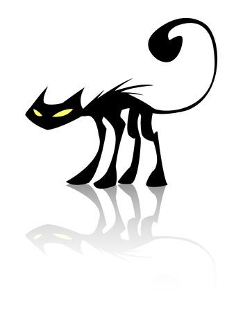silueta de gato: gato negro Vectores