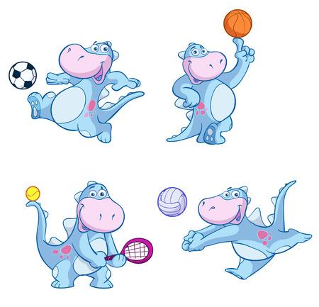 cute dino sport set