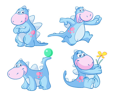 adorable cute blue dino