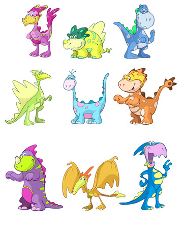 ascendant:  cute dino vector set
