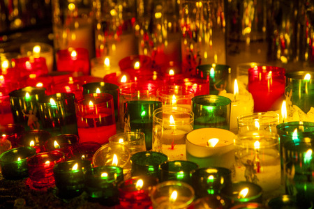 church candles in transparant colors