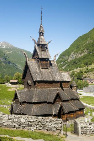ancient church, stavkirke in Norway, Borgund