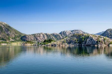 Lyssefjord et sa chaire en Norvège Banque d'images - 88646716