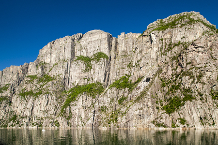 Lyssefjord and Pulpit rock in Norway