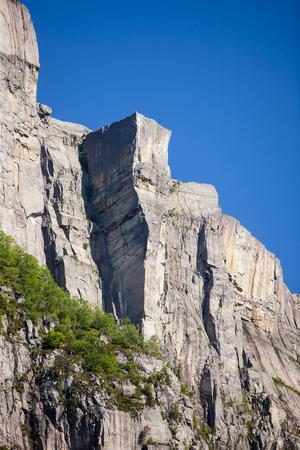 Lyssefjord et Pulpit Rock en Norvège Banque d'images - 88646723