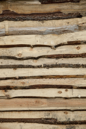 wooden wall with knotty planks