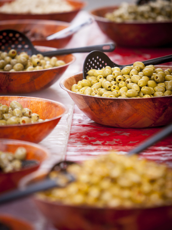 olive assortment on a food market