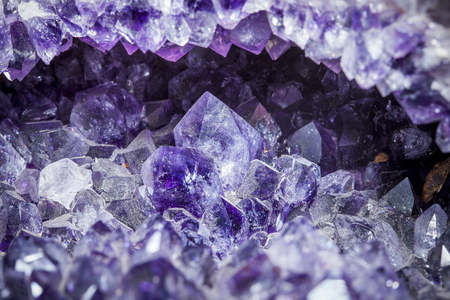 druse rock of a amethyst