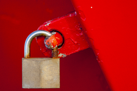 concept lock safely closed doors