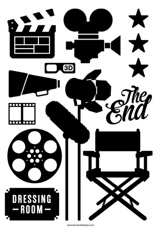 director's chair: movies Illustration