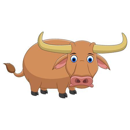 A cute African Cape Buffalo animal cartoon Stock Vector - 133303585