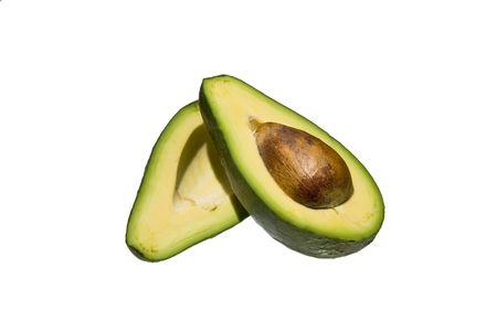 A sliced Avocado Stock Photo