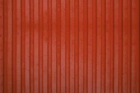 Red Wooden Wall Stock Photo