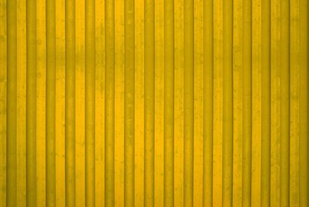 Yellow Wooden Wall Stock Photo