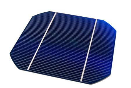 solarcell: A 5 isolated Solar-Cell Stock Photo