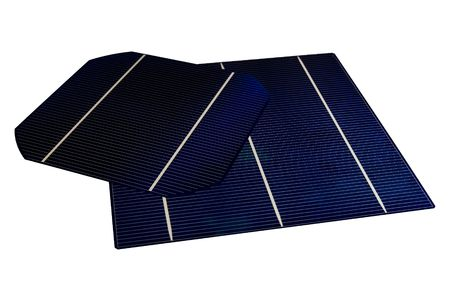 5 & 6 isolated Solar-Cells Stock Photo