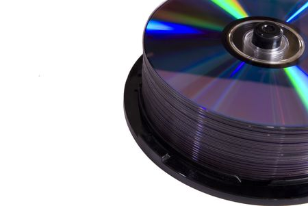 A stack of cd  dvd discs
