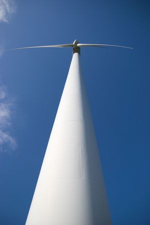 Wind turbine in the norther sweden Stock Photo