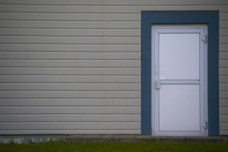 grey wall with security door