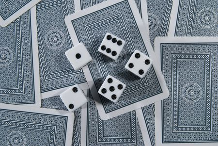 Playing Cards and dices Editorial