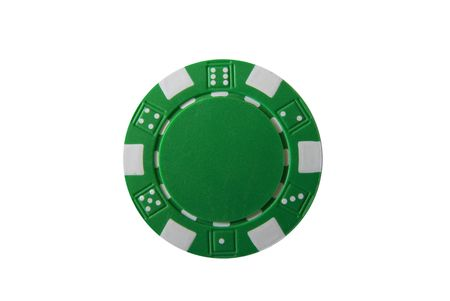 A isolated poker chip Stock Photo