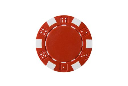 A isolated poker chip photo