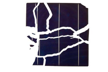 a broken solarcell