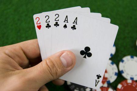 a poker hand Stock Photo