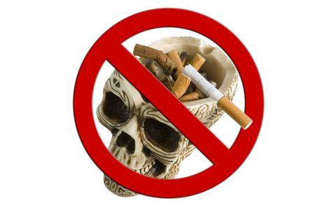 Skull ashtray, Anti smoking