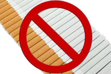 Line of Cigarettes, anti smoking