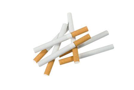Cigarette Pile Stock Photo