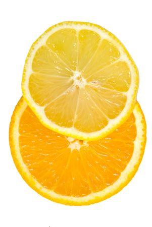 Sliced lemon & orange